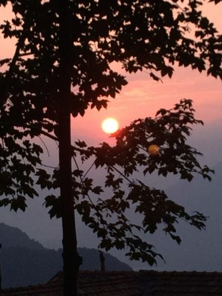sunset ove rthe mountains