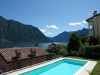 pool with lake views