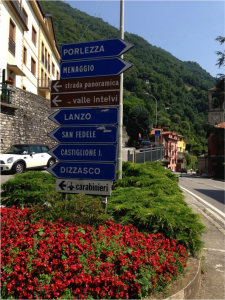 1. Signpost after Argegno village