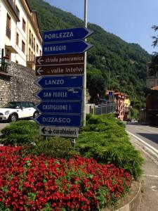 1. Signpost after Argegno village