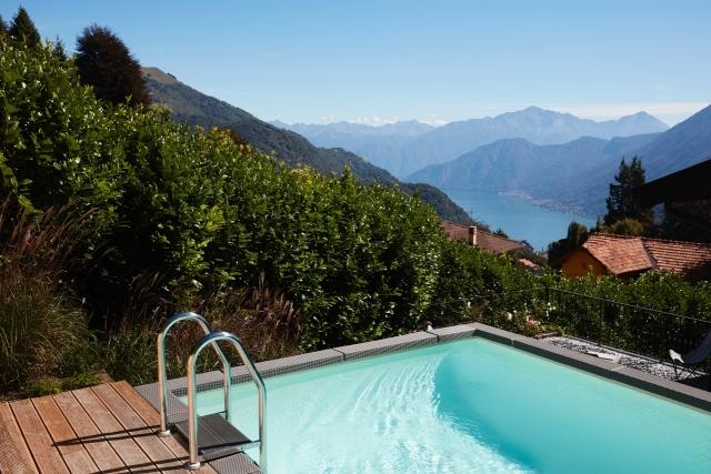lake view pool and sun deck