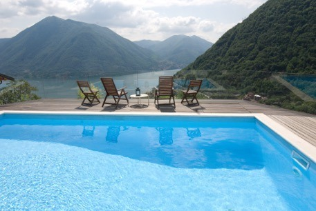 Pool area and stunning views