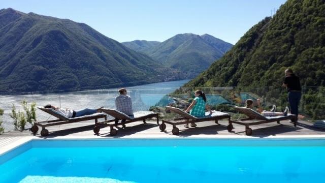 Stunning lake view pool
