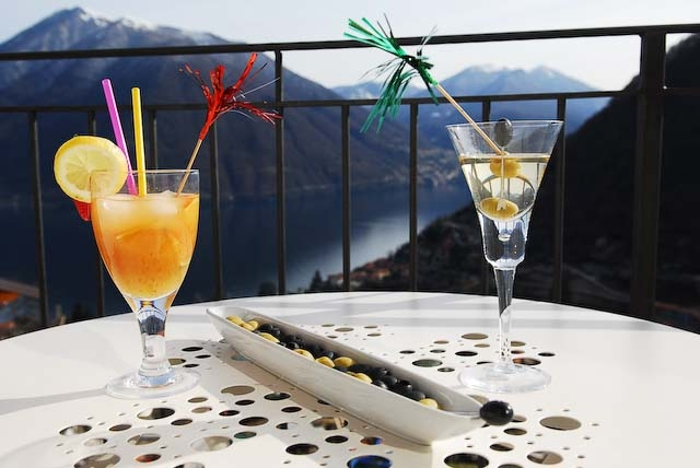 Balcony cocktails