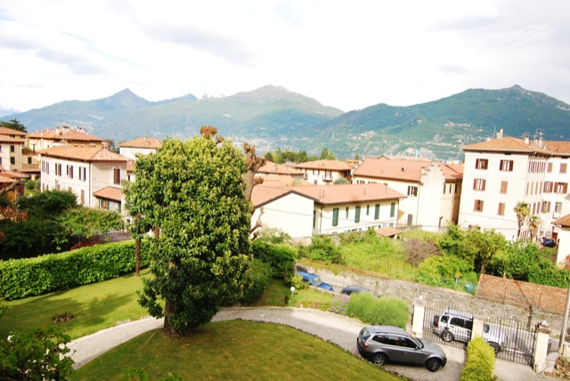 view over the roof tops of Menaggio