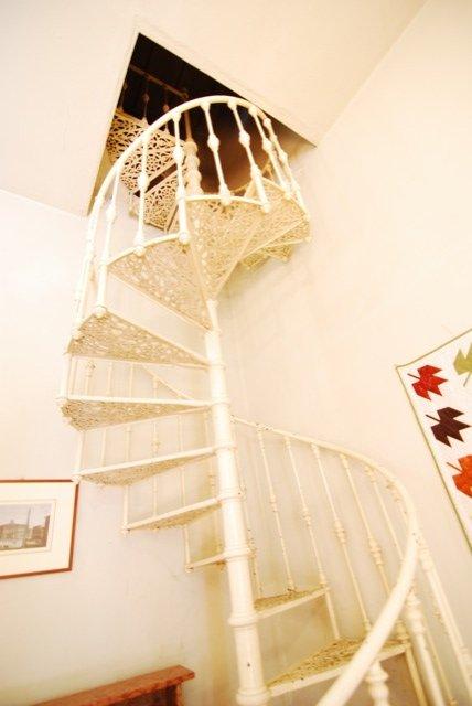 original cast iron staircase to attic