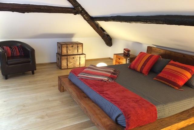 Tope floor double with en suite shower room